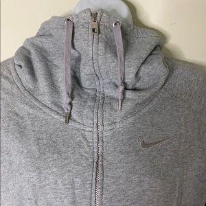 Cowl neck Nike zip up
